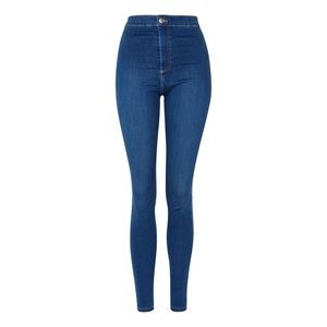 Topshop Moto Joni Jeans in True Blue Wash